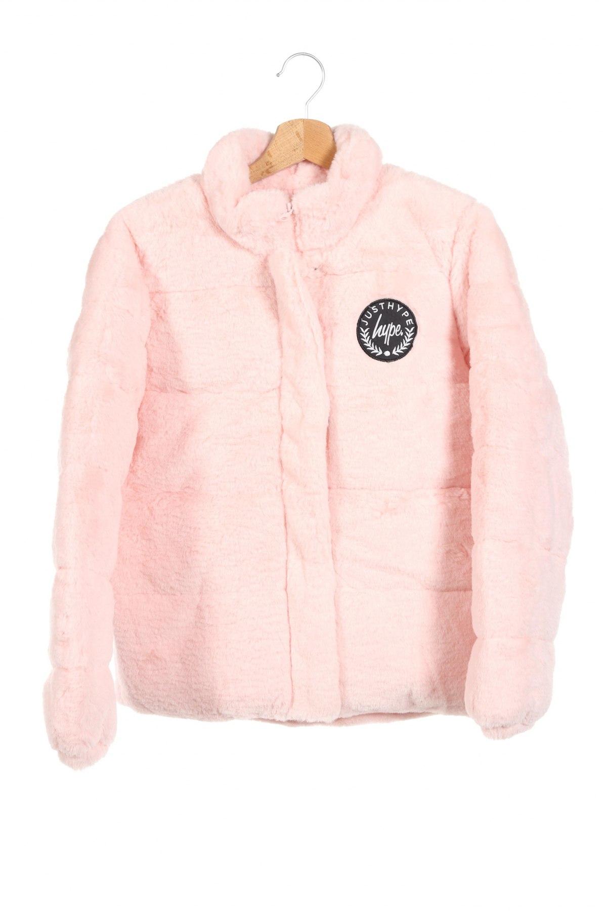 Детско яке Hype, Размер 13-14y/ 164-168 см, Цвят Розов, 100% полиестер, Цена 86,48лв.