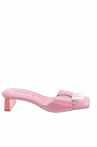 Чехли Zara, Размер 37, Цвят Розов, Еко кожа, Цена 23,40лв.