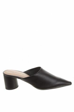 Papuci Zara, Mărime 38, Culoare Negru, Piele naturală, Preț 175,66 Lei