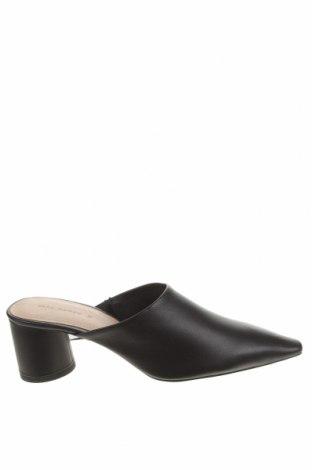 Papuci Zara, Mărime 38, Culoare Negru, Piele naturală, Preț 153,95 Lei