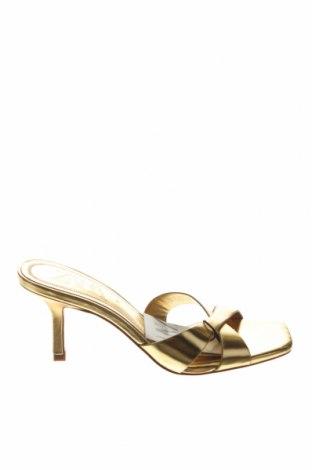 Γυναικείες παντόφλες Zara, Μέγεθος 37, Χρώμα Κίτρινο, Δερματίνη, Τιμή 22,81€