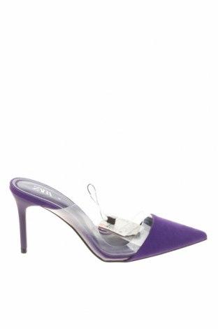 Γυναικείες παντόφλες Zara, Μέγεθος 36, Χρώμα Βιολετί, Κλωστοϋφαντουργικά προϊόντα, πολυουρεθάνης, Τιμή 13,68€