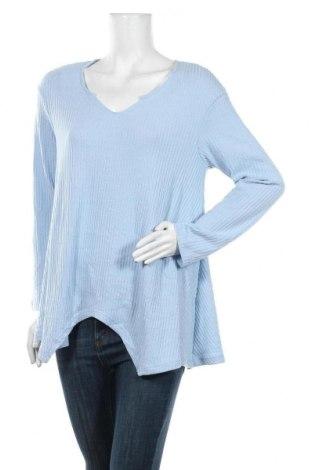 Γυναικεία μπλούζα, Μέγεθος XXL, Χρώμα Μπλέ, 90% πολυεστέρας, 10% ελαστάνη, Τιμή 4,97€