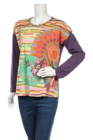 Дамска блуза Desigual, Размер L, Цвят Многоцветен, Памук, Цена 37,95лв.