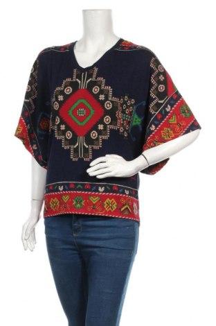 Дамска блуза Desigual, Размер M, Цвят Многоцветен, 52% вискоза, 47% памук, 1% еластан, Цена 66,75лв.