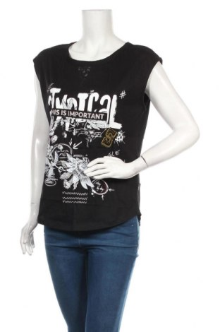 Дамска блуза Desigual, Размер M, Цвят Черен, Памук, Цена 29,50лв.