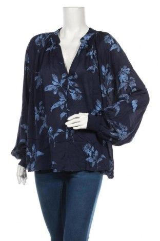 Дамска блуза H&M, Размер XXL, Цвят Син, 100% модал, Цена 36,75лв.
