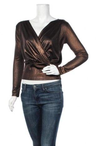 Дамска блуза Rinascimento, Размер XS, Цвят Кафяв, 95% полиестер, 5% еластан, Цена 19,75лв.