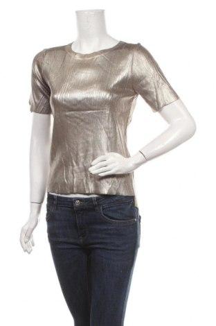 Bluză de femei Zara Knitwear, Mărime S, Culoare Auriu, 85% viscoză, 13% poliamidă, 2% elastan, Preț 89,53 Lei