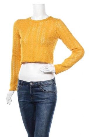 Γυναικεία μπλούζα Zara Trafaluc, Μέγεθος M, Χρώμα Κίτρινο, 97% πολυεστέρας, 3% ελαστάνη, Τιμή 11,14€
