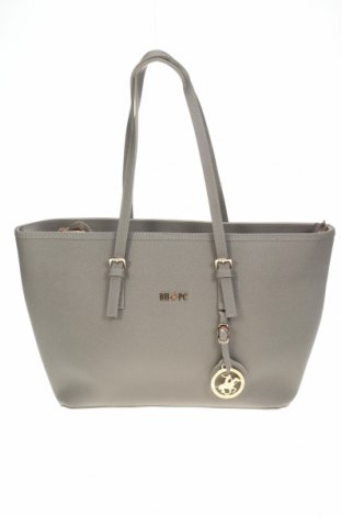 Дамска чанта Beverly Hills Polo Club, Цвят Сив, Еко кожа, Цена 70,50лв.