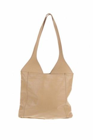 Дамска чанта Coccinelle, Цвят Бежов, Естествена кожа, Цена 178,50лв.