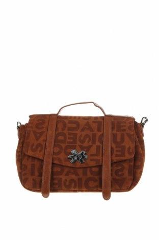 Geantă de femei Desigual, Culoare Maro, Textil, piele ecologică, Preț 342,93 Lei