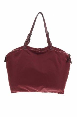 Дамска чанта H&M, Цвят Червен, Текстил, еко кожа, Цена 25,50лв.