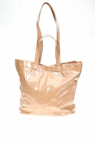 Дамска чанта Reserved, Цвят Бежов, Полиуретан, Цена 18,20лв.