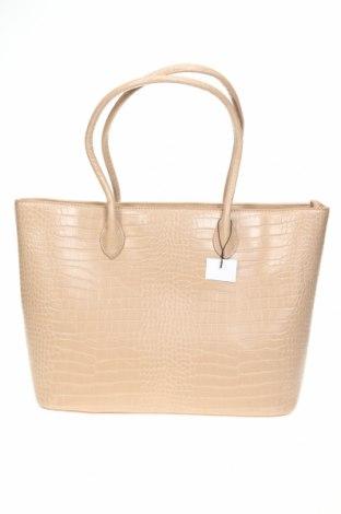 Γυναικεία τσάντα Reserved, Χρώμα  Μπέζ, Δερματίνη, Τιμή 22,81€