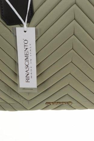 Geantă de femei Rinascimento, Culoare Verde, Textil, piele ecologică, Preț 416,94 Lei