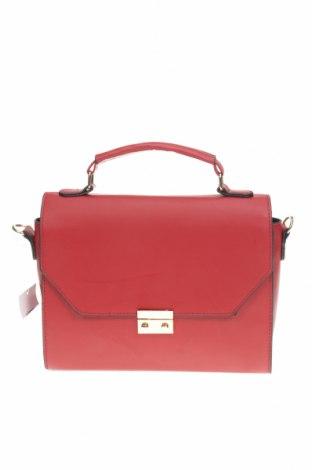 Geantă de femei Sinsay, Culoare Roșu, Piele ecologică, Preț 120,89 Lei