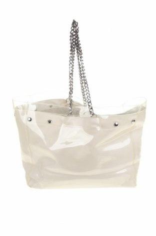 Γυναικεία τσάντα Zara Trafaluc, Χρώμα Εκρού, Δερματίνη, πολυουρεθάνης, Τιμή 24,12€
