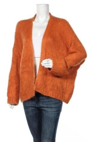 Дамска жилетка Aaiko, Размер M, Цвят Оранжев, 40% акрил, 30% мохер, 30% полиамид, Цена 11,55лв.