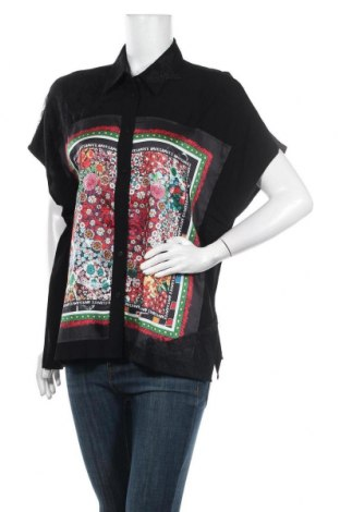 Дамска риза Desigual, Размер S, Цвят Черен, Вискоза, Цена 27,72лв.