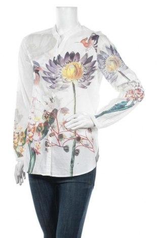 Дамска риза Desigual, Размер L, Цвят Бял, Памук, Цена 81,75лв.