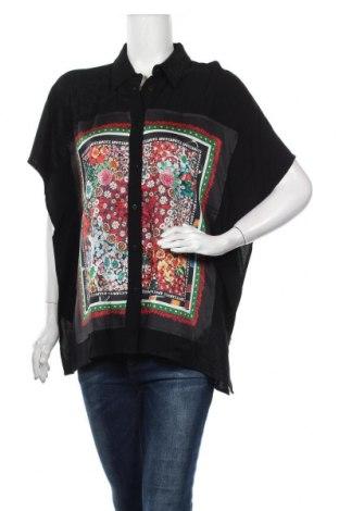 Γυναικείο πουκάμισο Desigual, Μέγεθος L, Χρώμα Μαύρο, Βισκόζη, Τιμή 30,62€