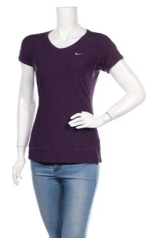 Dámské tričko Nike, Velikost M, Barva Fialová, 88% polyester, 12% elastan, Cena  383,00Kč
