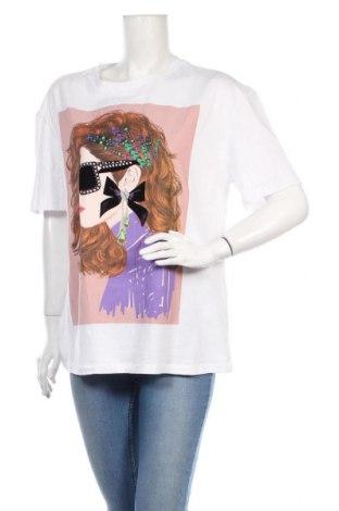 Дамска тениска Zara, Размер M, Цвят Бял, Памук, Цена 19,50лв.