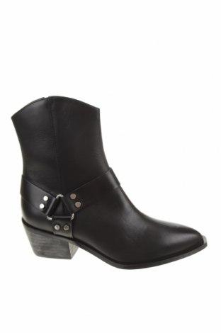 Dámské boty  Pull&Bear, Velikost 37, Barva Černá, Pravá kůže, Cena  906,00Kč