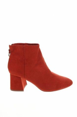 Дамски боти Pull&Bear, Размер 40, Цвят Оранжев, Текстил, Цена 19,32лв.