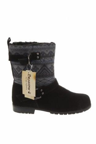 Cizme de damă Bearpaw, Mărime 39, Culoare Negru, Textil, velur natural, Preț 292,76 Lei