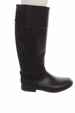 Дамски ботуши Zara, Размер 36, Цвят Черен, Полиуретан, Цена 74,25лв.