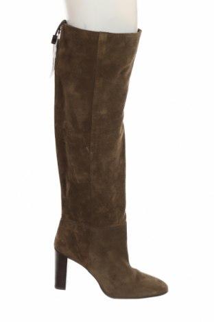 Dámské boty  Zara, Velikost 37, Barva Zelená, Přírodní velur , Cena  1041,00Kč