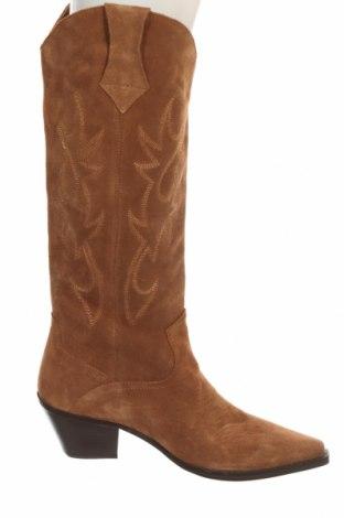 Dámské boty  Zara, Velikost 40, Barva Hnědá, Přírodní velur , Cena  1041,00Kč
