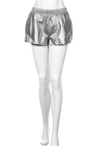 Дамски къс кожен панталон Alcott, Размер L, Цвят Сребрист, Еко кожа, Цена 7,61лв.