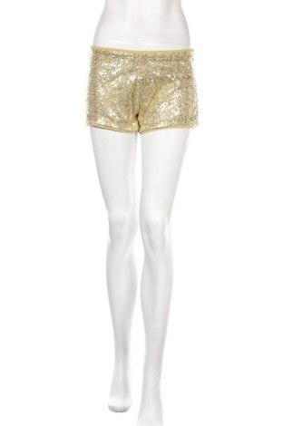 Дамски къс панталон Alcott, Размер L, Цвят Златист, Полиестер, Цена 12,65лв.