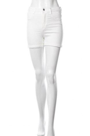 Pantaloni scurți de femei Gina Tricot, Mărime M, Culoare Ecru, 98% bumbac, 2% elastan, Preț 36,18 Lei