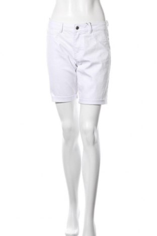 Pantaloni scurți de femei Vero Moda, Mărime M, Culoare Alb, 50% bumbac, 35% poliester, 13% bumbac, 2% elastan, Preț 38,68 Lei