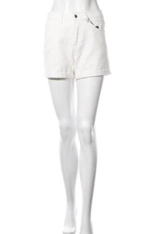 Pantaloni scurți de femei Vero Moda, Mărime S, Culoare Ecru, Bumbac, Preț 38,68 Lei