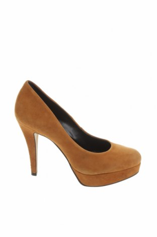 Дамски обувки Buffalo, Размер 39, Цвят Кафяв, Естествен велур, Цена 27,14лв.