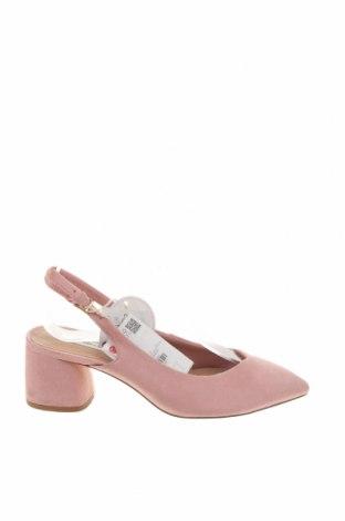 Дамски обувки Stradivarius, Размер 36, Цвят Розов, Текстил, Цена 17,70лв.