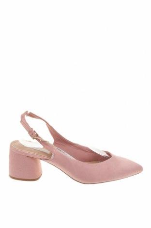 Дамски обувки Stradivarius, Размер 39, Цвят Розов, Текстил, Цена 16,12лв.