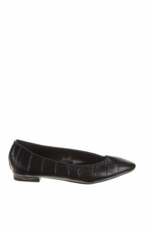 Дамски обувки Zara, Размер 36, Цвят Черен, Еко кожа, Цена 17,25лв.