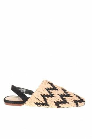 Γυναικεία παπούτσια Zara, Μέγεθος 37, Χρώμα Μαύρο, Φυσικό σουέτ, κλωστοϋφαντουργικά προϊόντα, Τιμή 27,53€