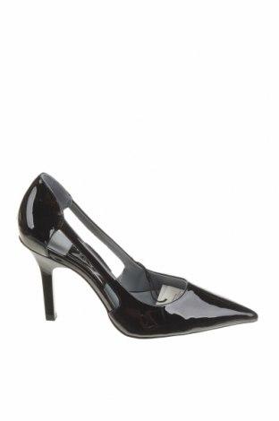 Дамски обувки Zara, Размер 38, Цвят Черен, Еко кожа, Цена 17,25лв.