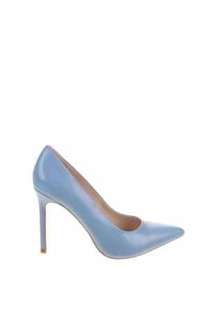 Дамски обувки Zara, Размер 37, Цвят Син, Естествена кожа, Цена 64,50лв.