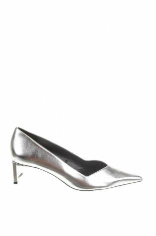 Дамски обувки Zara, Размер 37, Цвят Сив, Еко кожа, Цена 16,25лв.