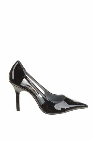 Дамски обувки Zara, Размер 38, Цвят Черен, Еко кожа, Цена 18,75лв.