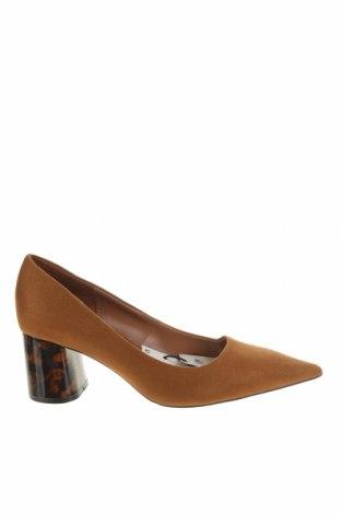 Дамски обувки Zara, Размер 36, Цвят Кафяв, Текстил, Цена 51,75лв.
